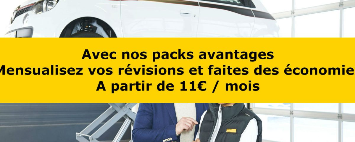 Les packs avantage r vision garage charron huet for Garage renault revision